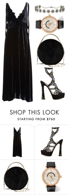 """""""///"""" by lunaashton ❤ liked on Polyvore featuring VIVETTA, Sophia Webster, Eddie Borgo and IWC Schaffhausen"""