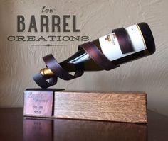 Rustic Single Wine Bottle Holder        PERSONALIZED