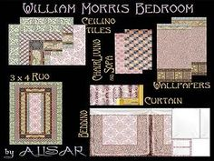 Mod The Sims - William Morris Bedroom Tradition Set