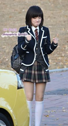 i love the school uniform look.... this one is from the kdrama version of boys over flowers i think