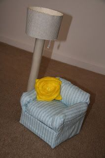 The craft at hand: DIY Arm chair for American Girl doll.