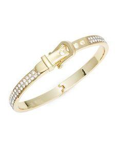 R.J. Graziano Pave Bangle Bracelet Women's Gold