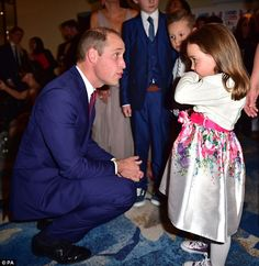 The Duke Of Cambridge also met withSuzie McCash, who won the Child Of Courage award...