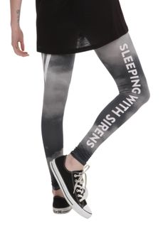 Sleeping With Sirens Grey Sky Leggings | Hot Topic