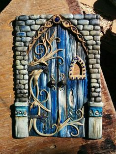 clay - Crafting Sense clay - Crafting Sense Parker's Clay Tribe May Update - KatersAcres Laser Cut Wooden Fairy Elf Hobbit Doors Pack of 10 in Collectables, Fantasy/ Myth/ Magic, Mythical Creatures Polymer Clay Kunst, Polymer Clay Fairy, Polymer Clay Projects, Polymer Clay Creations, Polymer Clay Jewelry, Polymer Project, Fairy Garden Doors, Fairy Doors, Clay Fairy House