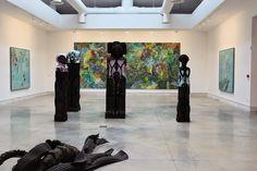 Biennale de Venise - Pavillon central - Giardini - oeuvres de Huma Bhabha, Emily Kame Kngwarreye, Ellen Gallagher