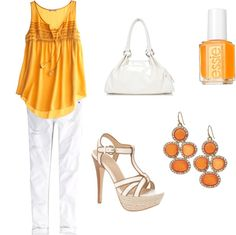 Orange you glad it is warm?, created by mmutah on Polyvore