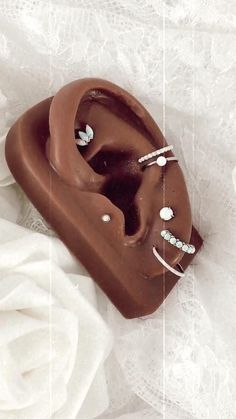 Conch Piercing Jewelry, Unique Ear Piercings, Ear Piercings Chart, Industrial Piercing Jewelry, Belly Button Piercing Jewelry, Types Of Ear Piercings, Ear Piercings Tragus, Cute Piercings, Ear Jewelry