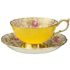 Image result for tea cup Paragon paisley yellow