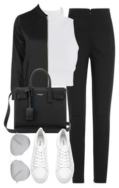 """""""Untitled #4216"""" by maddie1128 ❤ liked on Polyvore featuring Alexander McQueen, Topshop, Yves Saint Laurent and Victoria Beckham"""