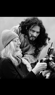 Annie Leibovitz and Russell Brand