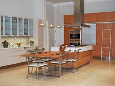 See the Teak and Formica-laminate cabinetry in this sleek modern kitchen on HGTV's Bang for Your Buck. Glass Front Cabinets, Upper Cabinets, Cabinet Door Styles, Cabinet Doors, Formica Laminate, Kitchen Cabinetry, Hgtv, Teak, Modern