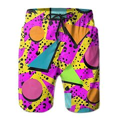 Red Blood Moon Lunar Eclipse Board Shorts with Mesh Lining Mens Quick Dry Swim Trunks
