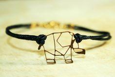 Armbänder - ♥ Kleiner Elefant ♥ Origami Wachs Armband - ein Designerstück von KaramboolaNoir bei DaWanda