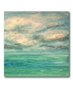 Look at this #zulilyfind! Sky & Coast II Gallery Wrapped Canvas #zulilyfinds