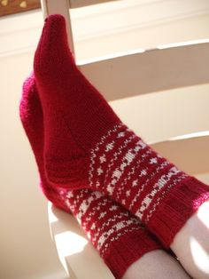 Red Norwegian Hand Knit Socks by LadyandtheCamp on Etsy - StyleSays