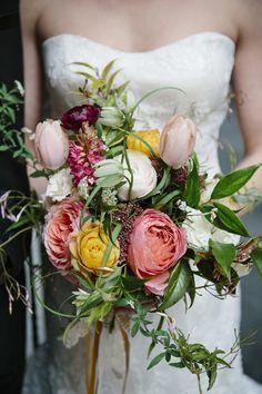 lush bouquet, photo by Rebecca K Photography http://ruffledblog.com/the-notwedding-boston #flowers #wedingbouquet