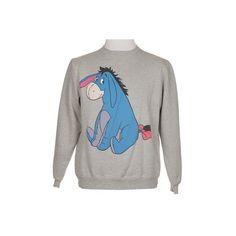 Grey Eeyore Sweatshirt - Vintage clothing from Rokit - winnie the pooh, eeyore, character found on Polyvore
