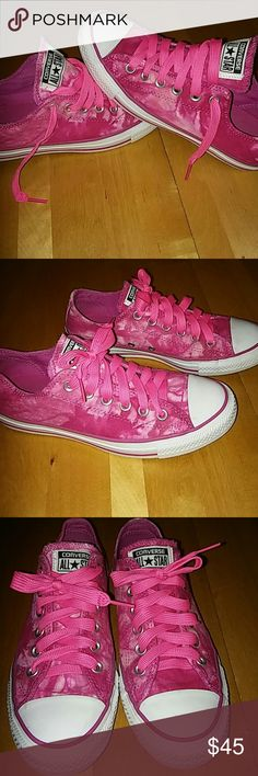 Converse All ❤ Star Super cute Converse Tie Dye Pink, unisex.  **Women size 7 but runs a little big,  more like 7.5/8. Used just once. Great  Conditions. And odor Free.                 ⤵Make an Offer Converse Shoes Sneakers