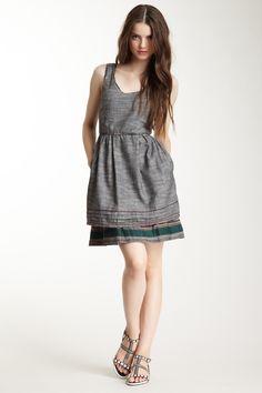 Embroidered Woven Hemp Dress