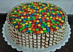 torta golosinera desayunos artesanales e infantiles envios Happy Birthday Wishes Cake, Creative Birthday Cakes, Homemade Birthday Cakes, Cake Decorating Piping, Birthday Cake Decorating, Cake Recipes, Dessert Recipes, Desserts, Torta Candy