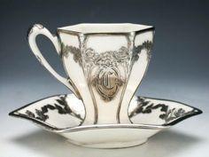 Lenox silver overlay teacup 1916