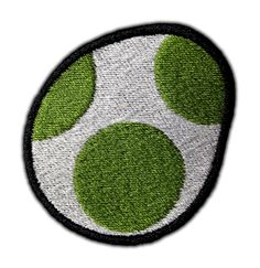 Yoshi Egg Patch on Etsy, $4.87 buy rug and add the dots with paint