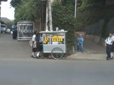 this is a picture of a bakso cart that was taken on the 11th October 2013