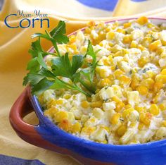 Yum-Yum Corn is creamy and has just the right amount of savory from the garlic and a hint of sweetness from the sugar.   #AllrecipesAllstars