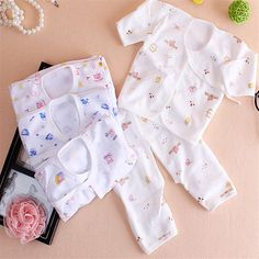 0-1 year autumn winter baby set romper underwear cotton T-shirt and pants baby cloth for newborns clothes for baby boy girls