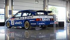 Tim Harvey's 1990 Ford Sierra RS500 Cosworth BTCC - 2013 Silverstone Classic Ford Sport, Ford Rs, Car Ford, Sport Cars, Retro Cars, Vintage Cars, Touring, Bbs, Ford Sierra