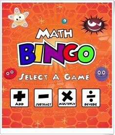 """""""Math Bingo"""" sirve para jugar al bingo clásico completando líneas del cartón, sin embargo los números no se aciertan por suerte sino contestando a las operaciones de cálculo mental de suma, resta, multiplicación o división. Con tres niveles de dificultad en cada una, por lo que se puede jugar desde 1º de Primaria hasta Secundaria."""