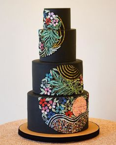 Beautiful Wedding Cake wedding cake ideas wedding cake wedding cake ideas 2019 wedding cake ideas rustic unique wedding cake designs luxury wedding ca. Black Wedding Cakes, Beautiful Wedding Cakes, Gorgeous Cakes, Pretty Cakes, Amazing Cakes, Cake Wedding, Elegant Wedding, Luxury Wedding Cake, Gift Wedding