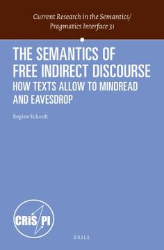 Phonological variation in french illustrations from three the semantics of free indirect discourse how texts allow us to mind read and fandeluxe Choice Image