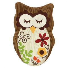 Sleepy Owl Apron - idk bout being an apron. I'd hang it up somewhere as decor