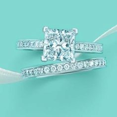 tiffany engagement ring and wedding band