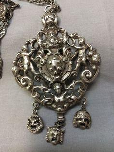 Peruzzi 800 Silver Necklace Vintage #Peruzzi #Pendant