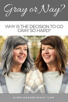 Why transitioning to gray hair is such huge decision - Frauen Haar Modelle Grey Hair Young, Grey Hair Old, Grey Blonde Hair, Silver Grey Hair, White Hair, Brown Hair Going Grey, Going Gray, Grey Hair Before And After, Going Grey Transition