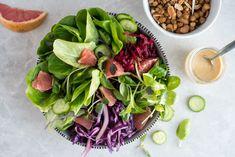 Salade nourissante noix et pois chiches