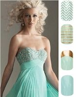 Mint Green Dress w/coordinating Jamberry nail wraps Hottest color this season Weddings, Proms & Formals buywraps.jamberrynails.net