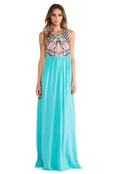 Embriodered Maxi Dress Mara Hoffman  Maison du Maillot | The Middle East's Beachwear Boutique | Worldwide Delivery | Free Returns | www.maisonmaillot.com | Peace.Love.Bikinis |