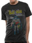 Officially licensed Batman t-shirt design printed on a Grey 100% cotton short sleeved T-shirt.