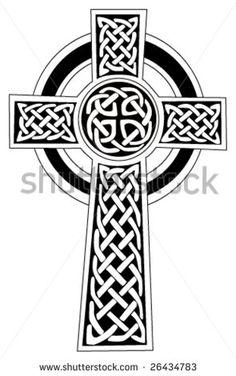 Celtic cross symbol - for tattoo or artwork. Vector - stock vector