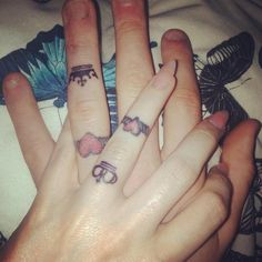 16 Wedding Ring Tattoos We Kind of LOVE via Brit + Co