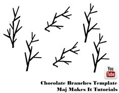 How to make chocolate branches very easily using wilton candy melts. This is a very easy concept and any one can do it, please check out my video for more info :)  https://youtu.be/Bqn6-Wm1a7Y