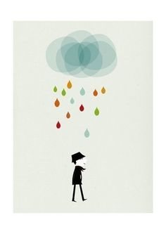 Love the simple rain prints, too. I'll need a lot of wall space in my next house!!