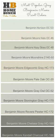 Most Popular Benjamin Moore Grays Interior And Colour Intended For Benjamin Moore Gray Sky Ideas