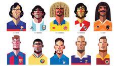 Playmakers: 25 ilustraciones de los más grandes jugadores de la historia del fútbol por Daniel Nyari