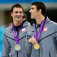 Friendship: kicking your friends ass in sports.  Ryan Lochte and Michael Phelps