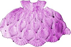 Baby Crochet Pattern -Child's Lacy  Pineapple Dress - Thread -  To fit 2-3 years DOWNLOAD on Etsy, $2.55